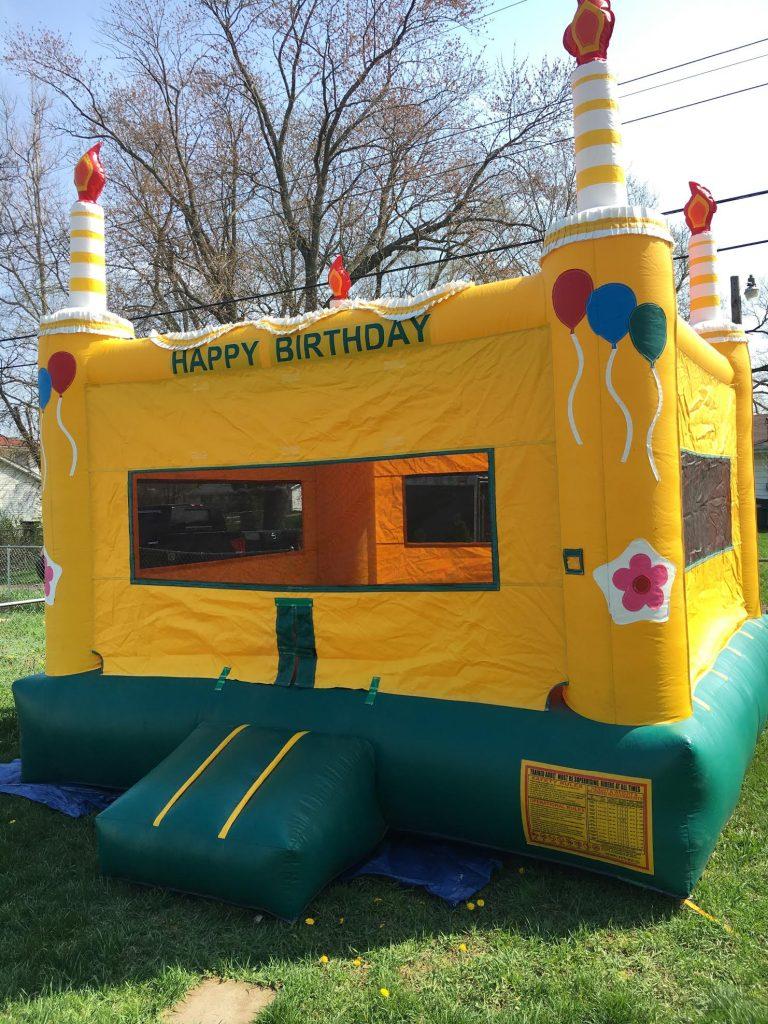 birthday cake bounce house rental