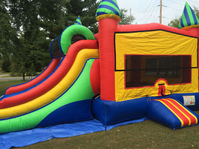 double-slide-basketball-bounce-house-rental
