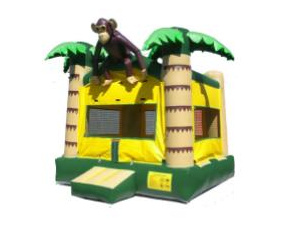 jungle monkey 15x15 bounce house rental