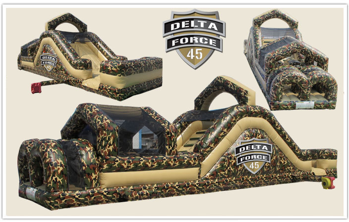 inflatable obstacle course delta force 45 rental